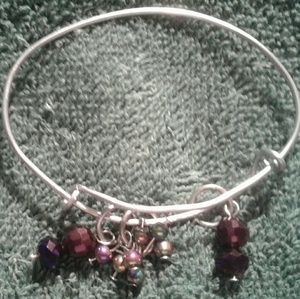 Jewelry - A wire wrapped adjustable slider bracelet.